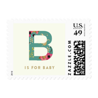Turquoise B is for Baby Postage