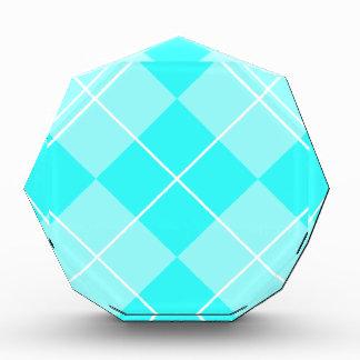 Turquoise Baby Blue Argyle Award