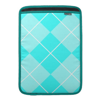 Turquoise Baby Blue Argyle MacBook Air Sleeve