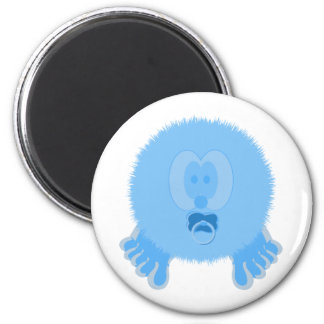 Turquoise Baby Pom Pom Pal Magnet