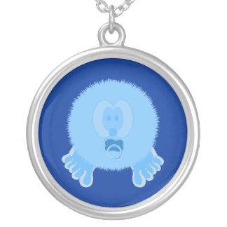 Turquoise Baby Pom Pom Pal Necklace