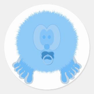 Turquoise Baby Pom Pom Pal Stickers