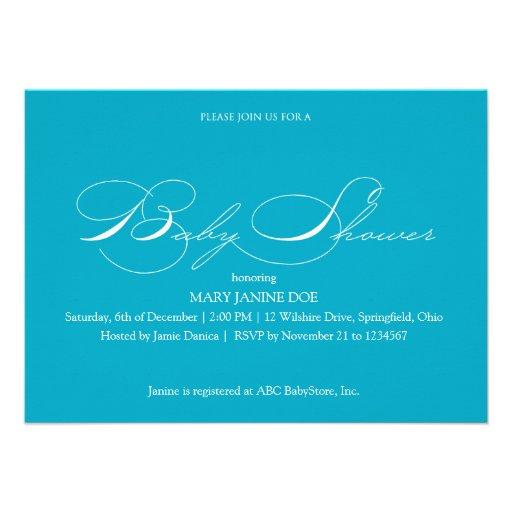 turquoise baby shower invitation zazzle
