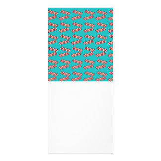 Turquoise bacon pattern rack card design
