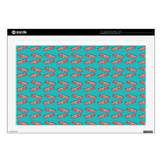 Turquoise bacon pattern laptop decals