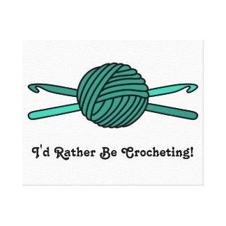 Turquoise Ball of Yarn & Crochet Hooks Canvas Print