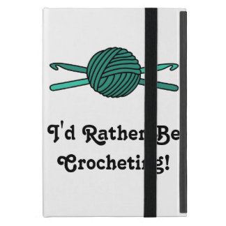 Turquoise Ball of Yarn & Crochet Hooks Cases For iPad Mini