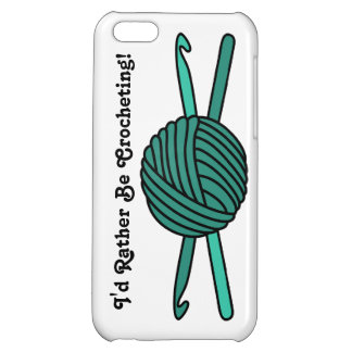 Turquoise Ball of Yarn & Crochet Hooks iPhone 5C Cover