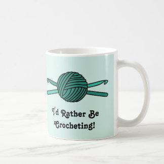 Turquoise Ball of Yarn & Crochet Hooks (Version 2) Coffee Mug
