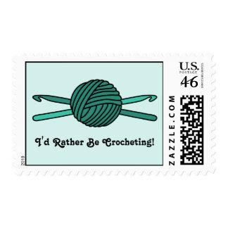 Turquoise Ball of Yarn & Crochet Hooks (Version 2) Postage