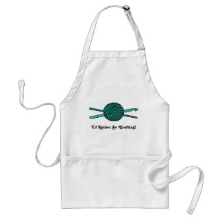 Turquoise Ball of Yarn (Knit & Crochet) Adult Apron