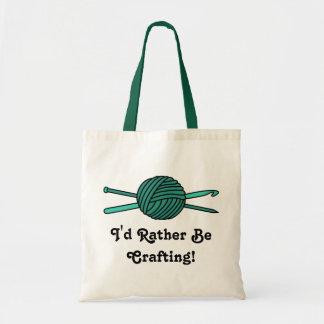 Turquoise Ball of Yarn (Knit & Crochet) Bag