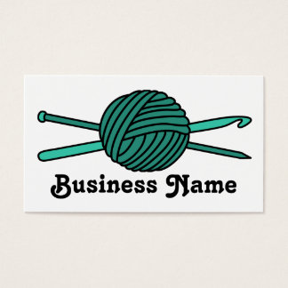 Turquoise Ball of Yarn (Knit & Crochet) Business Card