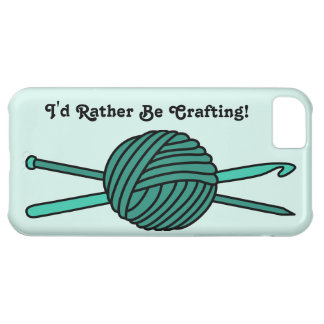 Turquoise Ball of Yarn (Knit & Crochet) iPhone 5C Cases