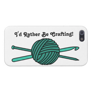 Turquoise Ball of Yarn (Knit & Crochet) Case For iPhone SE/5/5s