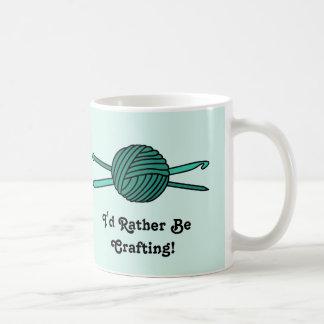 Turquoise Ball of Yarn (Knit & Crochet) Coffee Mug
