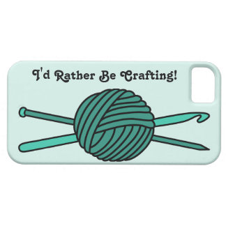 Turquoise Ball of Yarn (Knit & Crochet) iPhone SE/5/5s Case