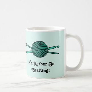 Turquoise Ball of Yarn (Knit & Crochet) Coffee Mugs