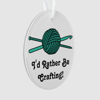 Turquoise Ball of Yarn (Knit & Crochet) Ornament