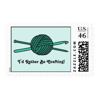 Turquoise Ball of Yarn (Knit & Crochet) Stamp