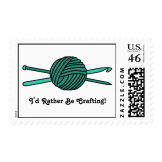 Turquoise Ball of Yarn (Knit & Crochet) Postage