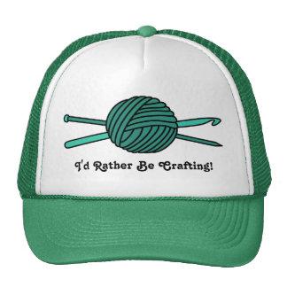 Turquoise Ball of Yarn (Knit & Crochet) Trucker Hat