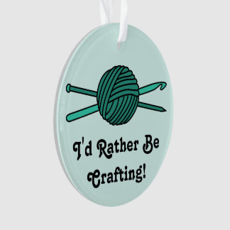 Turquoise Ball of Yarn (Knit & Crochet -Version 2) Ornament