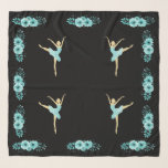 """Turquoise Ballerina Scarf<br><div class=""""desc"""">Turquoise ballerina wearing a tutu in the color of the Caribbean Sea. This design brings out the ballerina in each of us. When you feel sad,  dance. When you feel happy,  dance. When you don't feel like it,  dance!</div>"""