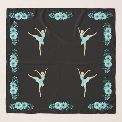 Turquoise Ballerina Scarf