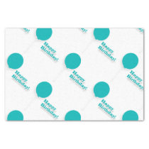 Turquoise Balloons Tissue Paper