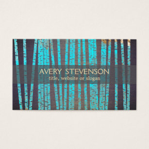 Bamboo business cards templates zazzle turquoise bamboo natural and holistic health wood business card colourmoves Images