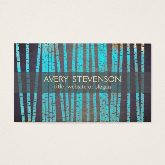 Turquoise Bamboo Natural and Holistic Health Wood Business Card