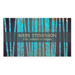 Turquoise Bamboo Natural and Holistic Health Wood Double-Sided Standard Business Cards (Pack Of 100)