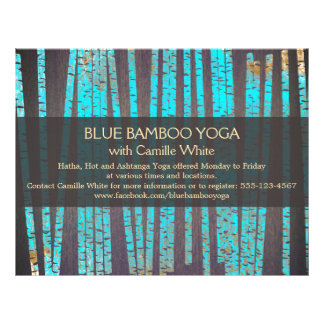 Turquoise Bamboo Yoga  Nature Health Spa Wood Flyer