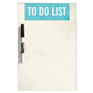 Turquoise Banner Design Dry Erase Board