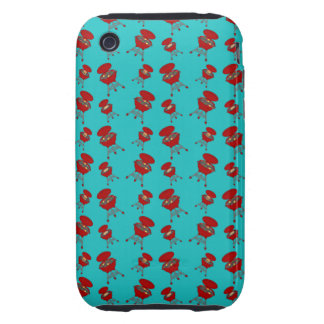 turquoise barbeque pattern iPhone 3 tough covers