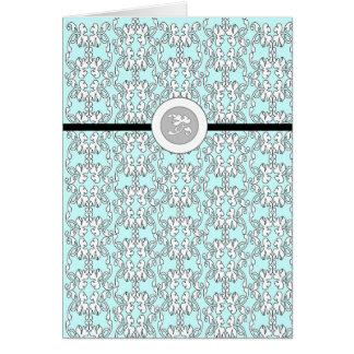 Turquoise Baroque Blank Notecard