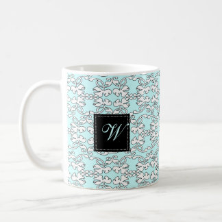 Turquoise Baroque Monogram Mug