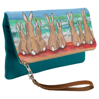 Turquoise Beach Bunny Rabbit Vacation Purse Cute