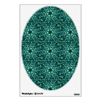 Turquoise Beads Toilet Lid Decal