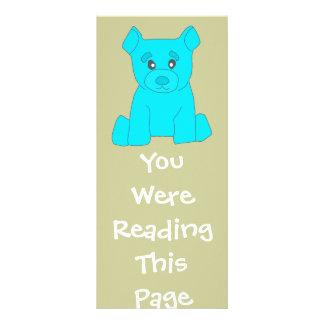 Turquoise Bear Bookmark Template Rack Card
