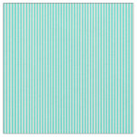 [ Thumbnail: Turquoise & Beige Colored Striped Pattern Fabric ]