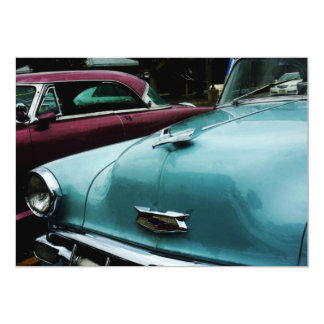 Turquoise Bel Air Card