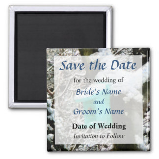 Turquoise Birdhouse Save the Date Magnet