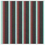 [ Thumbnail: Turquoise, Bisque, Dim Gray, Dark Red, and Black Fabric ]