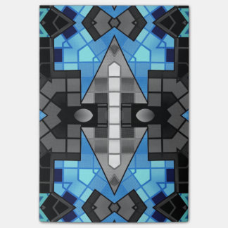 Turquoise Black Abstract Post-it® Notes