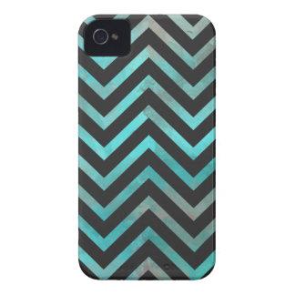 Turquoise Black Chevron Case-Mate iPhone 4 Cases