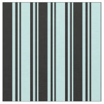 [ Thumbnail: Turquoise & Black Colored Lined/Striped Pattern Fabric ]