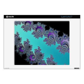 "Turquoise Black Fractal Design Skin For 14"" Laptop"