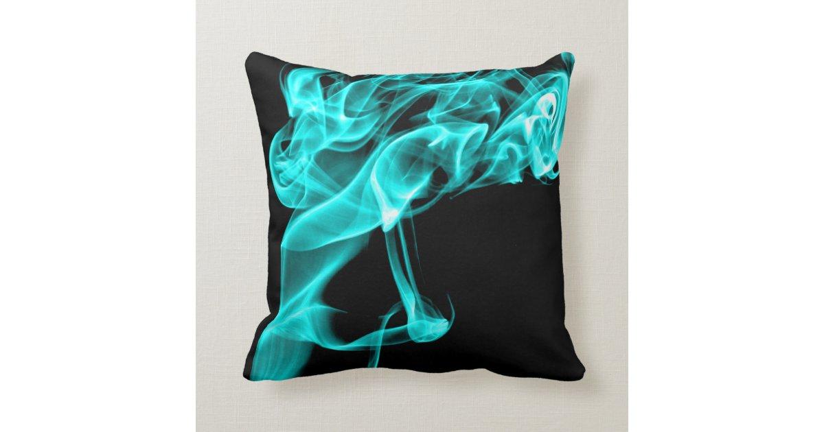 Modern Turquoise Pillows : Turquoise Black Modern Design Pillow Cushion Zazzle